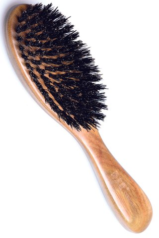 8100459 | Tan's Green Sandalwood Mix Pure Wild Boar Hairbrush | Hair Growing
