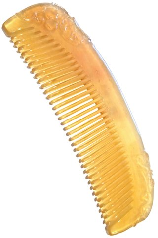 8100721 | Tan's Natural Sheep Horn Comb With Carving Design  | Medicine Health Care Good For Hair