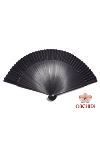 497-10 | Chinese Handmade Tortoise-shell Bamboo And Silk Fan