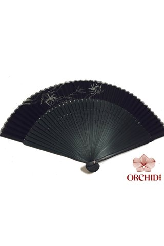 497bamboo | Chinese Hand Fan Made of Tortoise-shell Bamboo And Silk