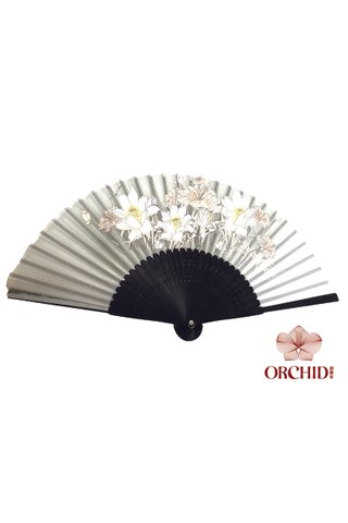 827-03 | 3 Big Flower Design Folding Hand Fan