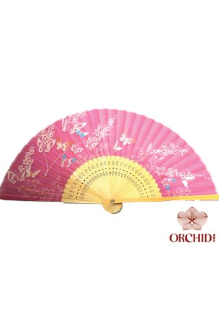 827-13 | Butterfly And Flower Design Hand Fan