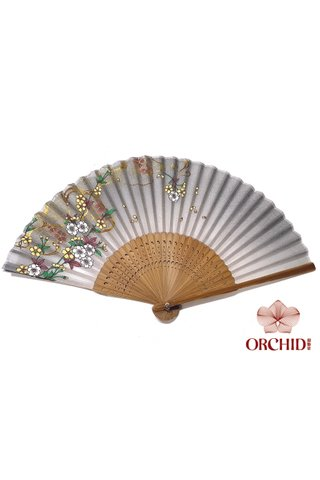 827-19 | Shiny Flower Design Hand Fan