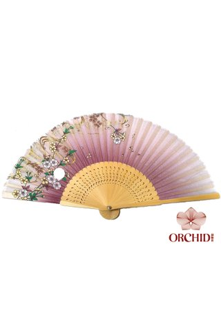 827-192 | Shiny Flower Design Hand Fan
