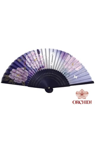 827-22 | 3 Big Flower Design Folding Hand Fan