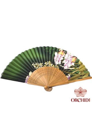 827-40 | Bamboo And Silk Chinese Style Fan