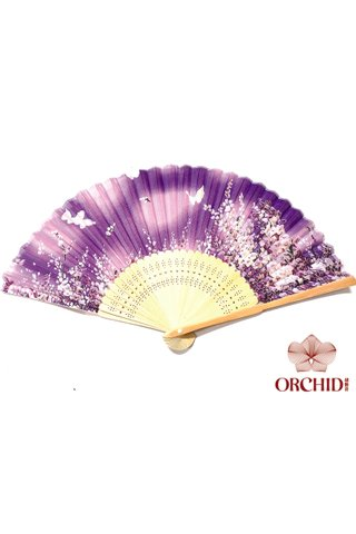 827-41 | Butterfly and Flower Design Hand Fan