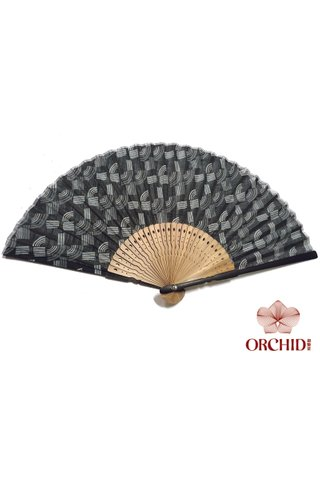 827-62 black design | Bamboo And Silk Chinese Style Fan