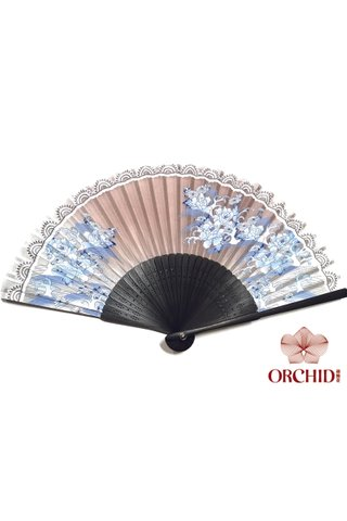 827-97 | Chinese Style Flower Design Hand Fan