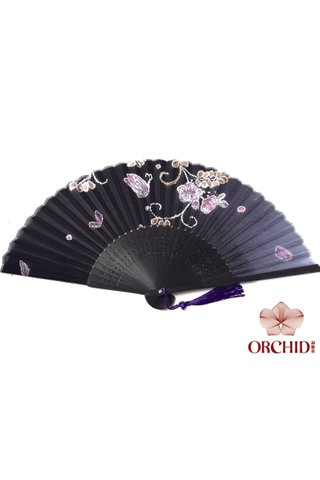 827-98 | Bamboo And Silk Chinese Style Fan