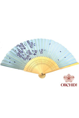 827-99 | Bamboo And Silk Chinese Style Fan
