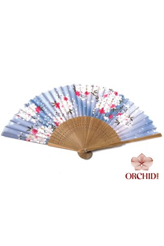 82711 blue | Chinese Style Folding Hand Fan