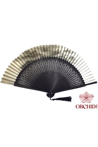 8400003 great wall | Chinese Style Handmade Tortoise-shell Bamboo And Silk Hand Fan