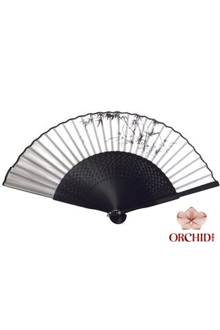 8400003 bamboo | Handmade Tortoise-shell Bamboo And Silk Folding Hand Fan