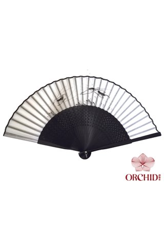 8400003 prawn | Chinese Style Handmade Tortoise-shell Bamboo And Silk Hand Fan