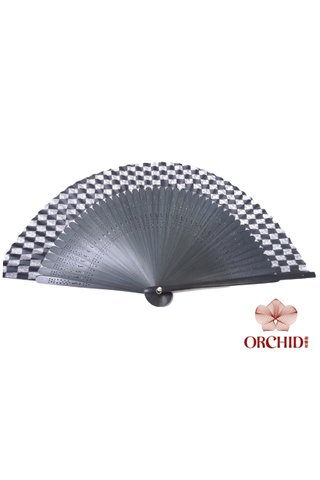 84497-10 | Chinese Hand Fan Made of Tortoise-shell Bamboo And Silk
