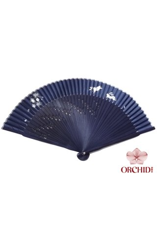 8449713 | Rabbit Design Hand Fan Made of Tortoise-shell Bamboo And Silk