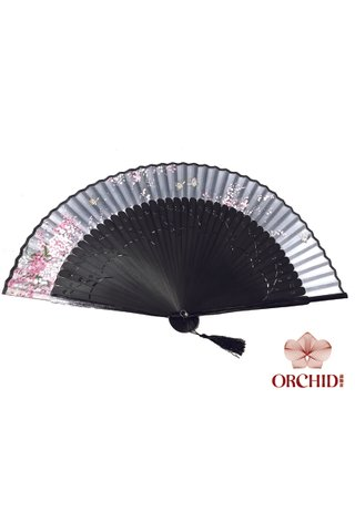 8449715 | Chinese Hand Fan Made of Tortoise-shell Bamboo And Silk
