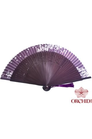 8449720 | Chinese Hand Fan Made of Tortoise-shell Bamboo And Silk