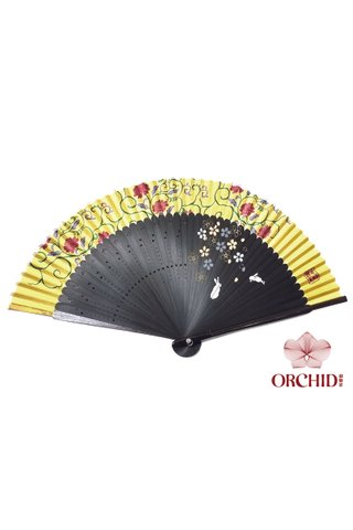 8449721 |  Rabbits Design Bamboo And Silk Hand Fan