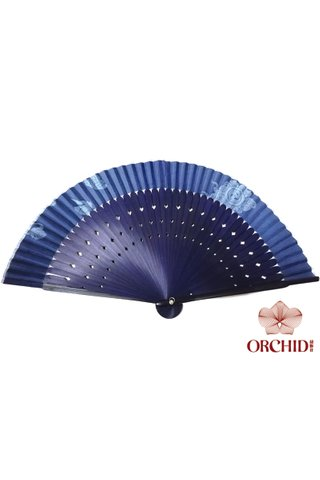 8449724 | Chinese Hand Fan Made of Tortoise-shell Bamboo And Silk