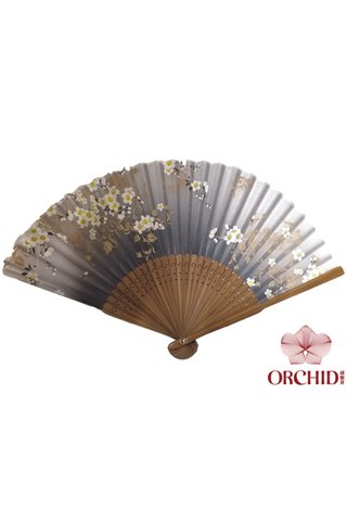 8482707 | Bamboo And Silk Chinese Style Fan
