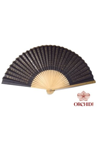 8482721 | Heart Sutra Design Bamboo And Paper Chinese Style Fan