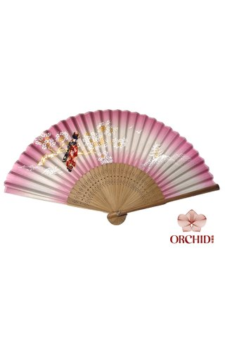 84827 lady | Chinese Style Folding Hand Fan