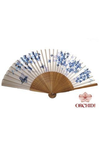 8484998| Bamboo And Silk Chinese Style Fan