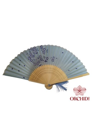 8484999 leaf | Bamboo And Silk Chinese Style Fan