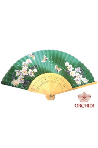 849-11 | Butterfly And Flower Design Hand Fan
