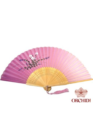 849-21 | Bamboo And Silk Chinese Style Fan
