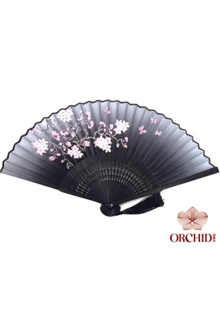 84909 | Bamboo And Silk Chinese Style Fan