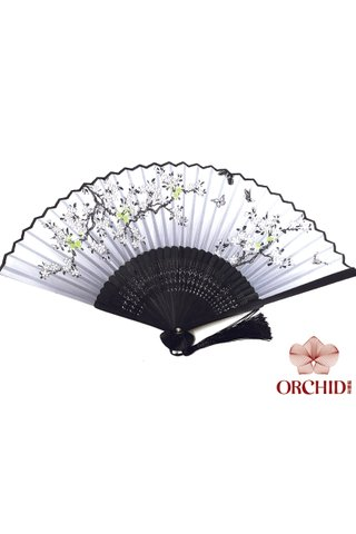 84970 | Bamboo And Silk Chinese Style Fan