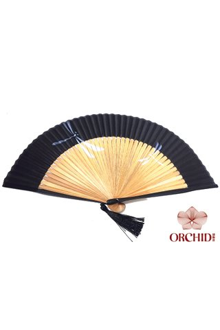 861 dragonfly | Chinese Hand Fan Made of Tortoise-shell Bamboo And Silk