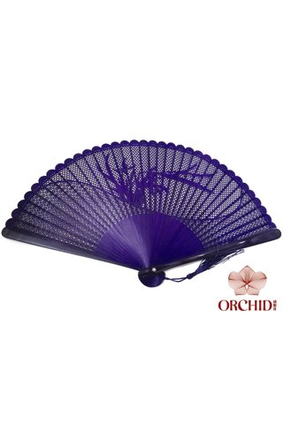 868 orchid | Carving Design | Chinese Style Handmade High Quality Tortoise-shell Bamboo Hand Fan