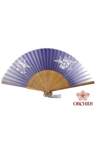 gray butterfly| Bamboo And Silk Chinese Style Fan