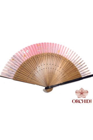 pink rabbit | Rabbit Design Hand Fan Made of Tortoise-shell Bamboo And Silk