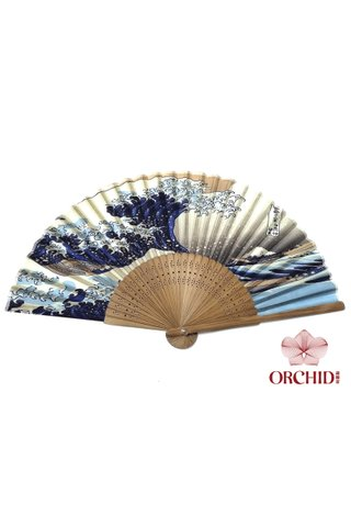 wave| Bamboo And Silk Chinese Style Fan