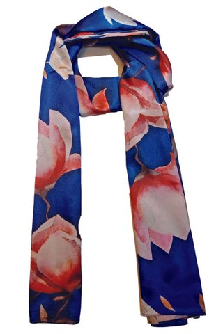 Silk Scarf Pattern Long Wrap Scarf Shawl Silk Imitation Beach Towel 42