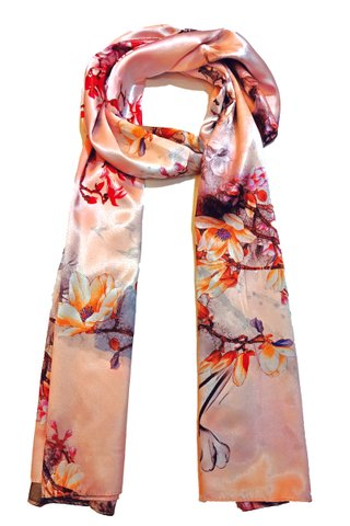 Silk Scarf Pattern Long Wrap Scarf Shawl Silk Imitation Beach Towel 37