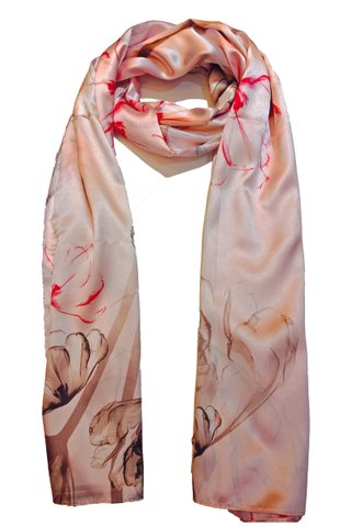 Silk Scarf Pattern Long Wrap Scarf Shawl Silk Imitation Beach Towel 39