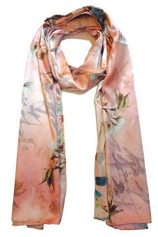 Silk Scarf Pattern Long Wrap Scarf Shawl Silk Imitation Beach Towel 34