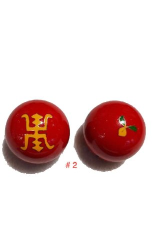 2pc Stainless Steel Hand Massager Ball Exercise Stress Ball 2