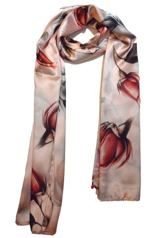 Silk Scarf Pattern Long Wrap Scarf Shawl Silk Imitation Beach Towel 10