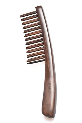 8100116 | Tan's Chacate Preto WOoden Massage Comb