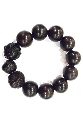 783 | Ebony Wood Bracelet Carved Design