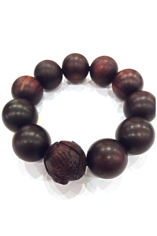 784 | Rose Wood Bracelet Carved Design