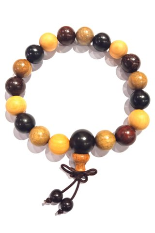 787 | Colourful 5 Blessing Wooden Bracelet
