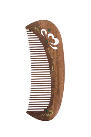 8100015 | Tan's Natural Sandal Wood Comb Carving Design Gift Set